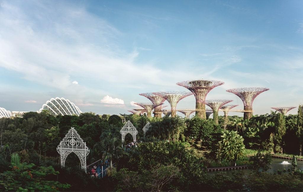 Singaporen skyline.
