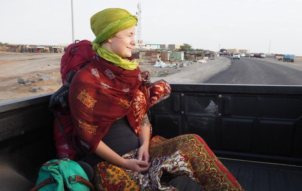 Venla Maki-Ikola Sudanissa.
